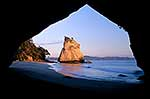 Cathedral Cove beach at dawn