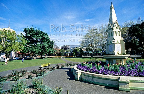 Town Square, Palmerston North, Palmerston North, Palmerston North City District, Manawatu-Wanganui Region, New Zealand (NZ) stock photo.