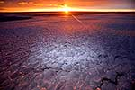 Pancake ice sunset, Antarctica