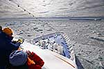 Ship in pack ice, Antarctica