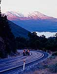 Mt Tongariro, winter dawn