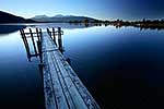 Lake Te Anau and jetty at dusk