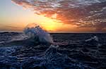 Sunset, Southern Ocean sea swell