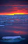 Antarctica sunset and ice