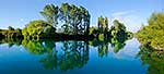 Waikato River summer panorama