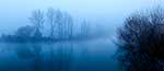 Waikato River, winter fog
