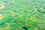 Aerial of farmland, Gore, Southland